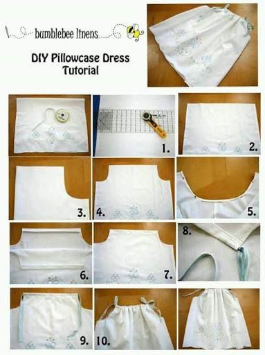 DIY Dress Dan Skirt Dari Sarung Bantal