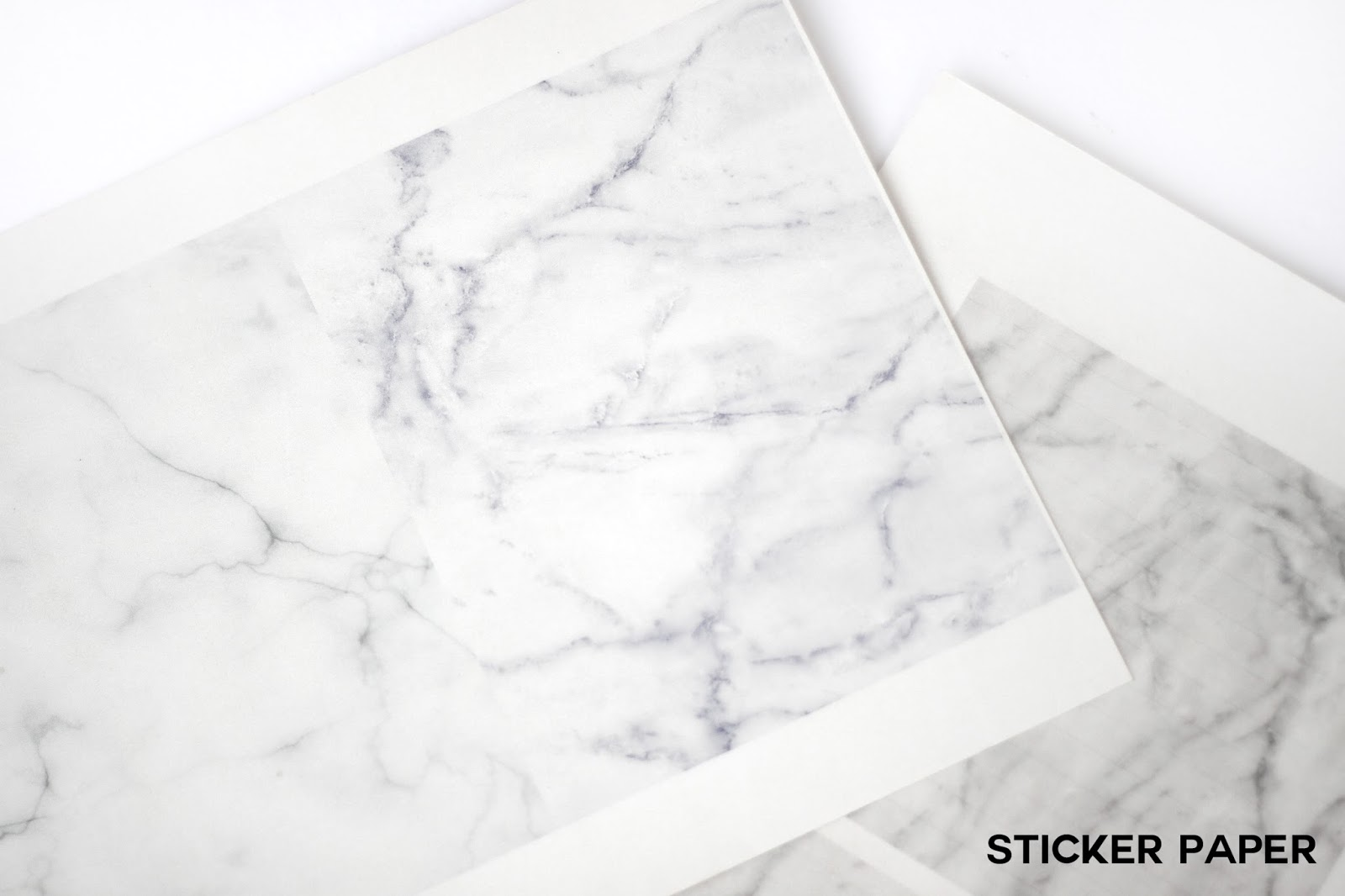 DIY Marble Sticker paper