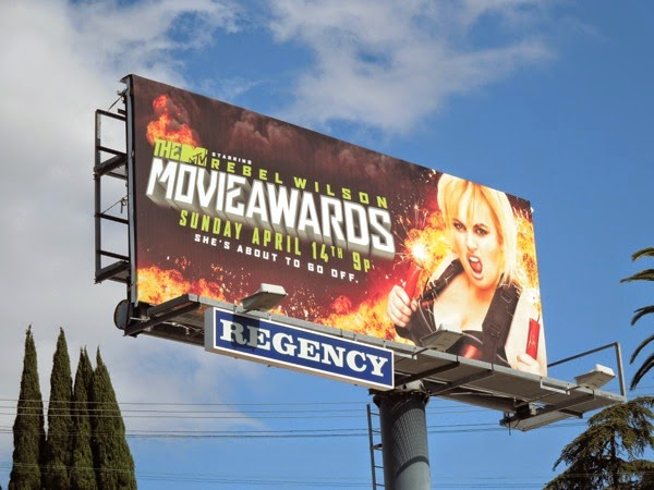 Rebel Wilson MTV Movie Awards 2013 billboard