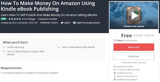 [100% Off] How To Make Money On Amazon Using Kindle eBook Publishing| Worth 139,99$