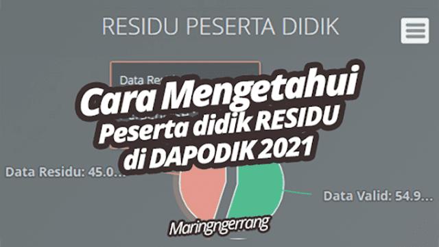 Cara Mengetahui Data Residu di Dapodik 2021