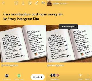 Cara Membagikan Postingan Di Instagram Orang Lain Ke Story Kita