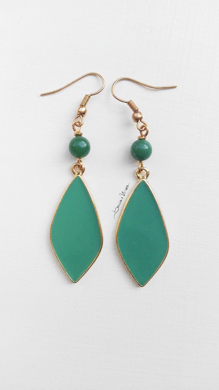 beads and wires orecchini verdi