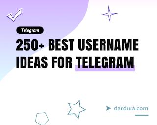 250+ Nama Username Telegram yang bagus, Aesthetic, Keren dan Lucu
