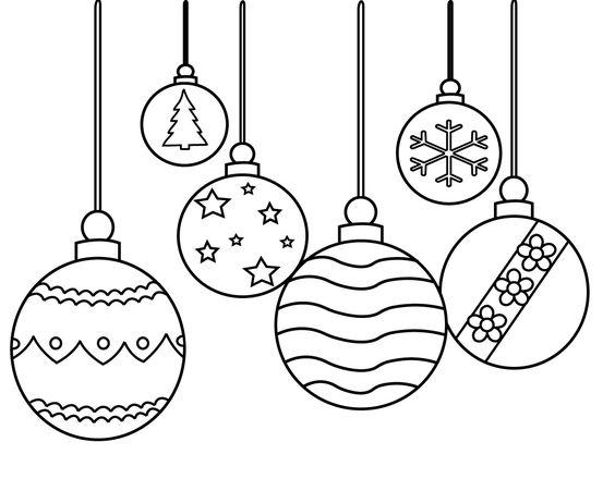 Hình tô màu đèn Noel