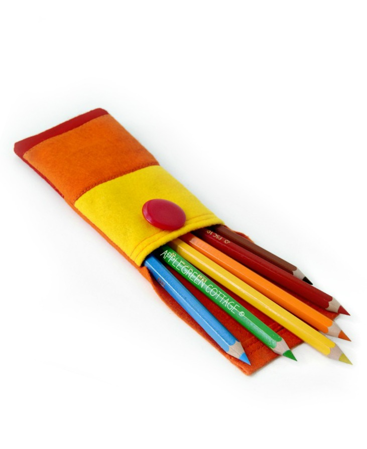 how to make a felt pencil case applegreen cottage