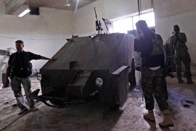 Enfrentamiento en Siria con armas caseras