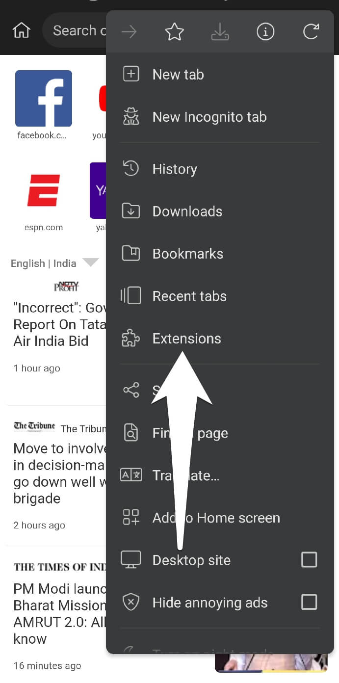 Add extension on Kiwi browser