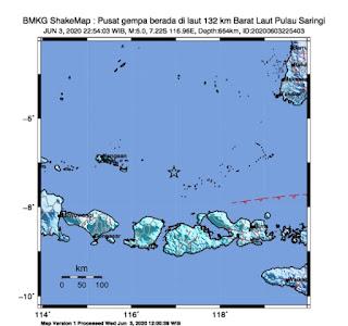 Terjadi Gempa Di NTB dan Bali Tidak Menimbulkan Tsunami