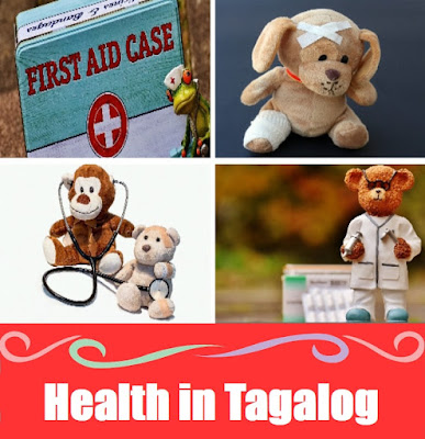 Health Word List in Tagalog
