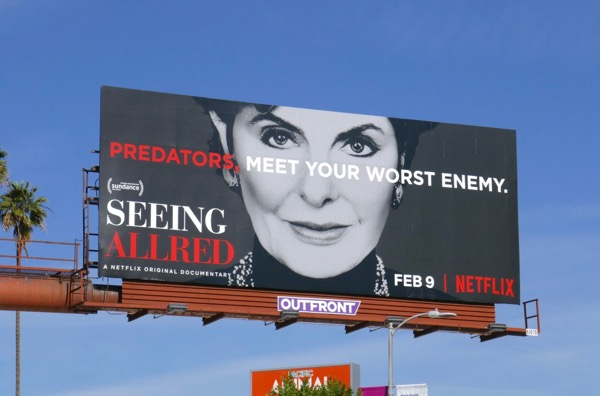 Seeing Allred documentary billboard