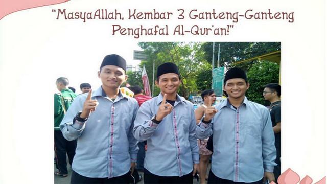 Masya Allah, 3 Pria Kembar Berwajah Tampan ini Semuanya Penghafal Al-Qur'an