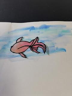 黒紙×パステルで塗った紙の切り絵(淡い背景)