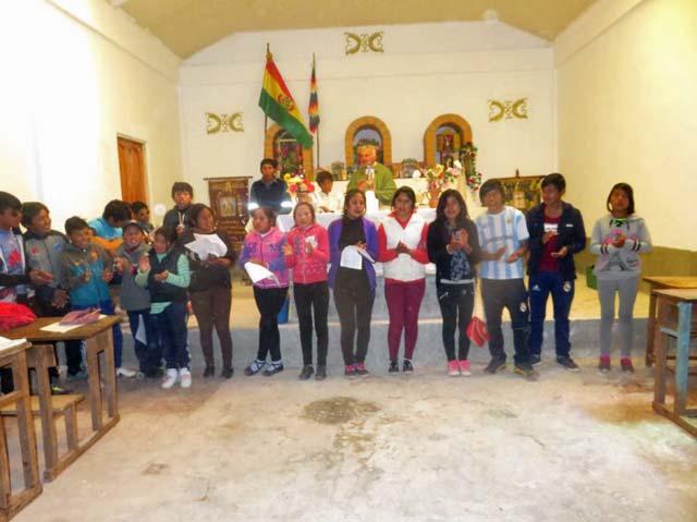 Der Schulchor von Esmoraca in Casa Grande