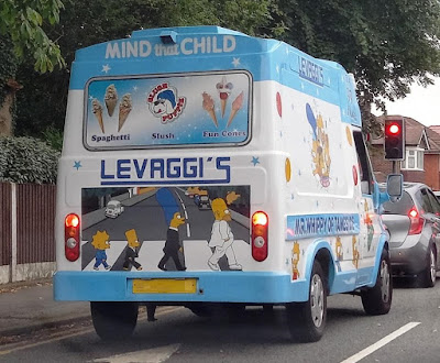 The Simpsons art on an ice cream van
