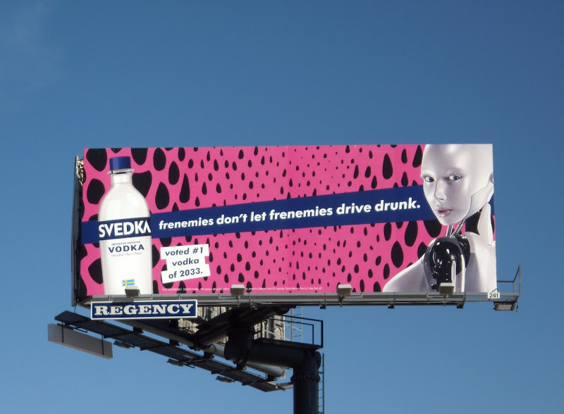 Svedka frenemies drive drunk billboard
