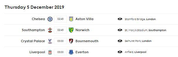 Jadwal Lengkap Liga Inggris 2019-2020