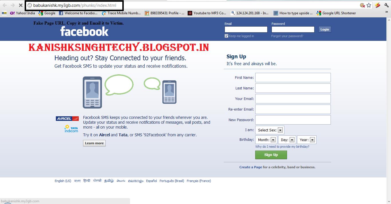 Hack Facebook Via Phishing  | Kanishk's Technical Blog