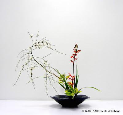 Ikebana-moribana-feestyle-wabisabi-escoladikebana