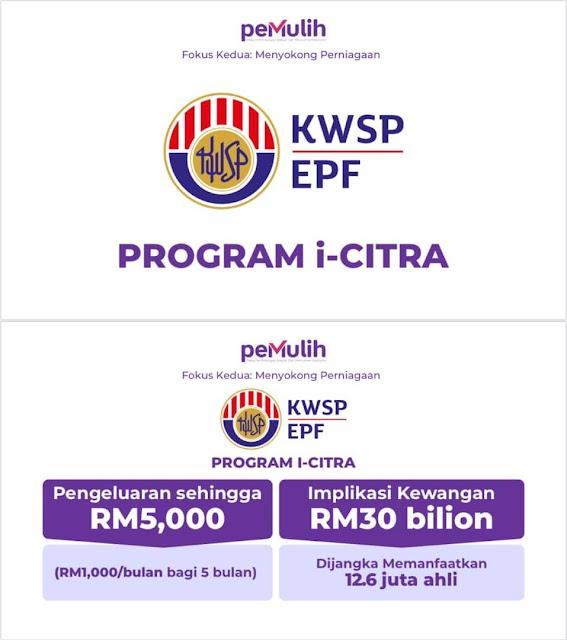 Kerajaan Benarkan Pengeluaran KWSP Sehingga RM5,000 Melalui i-Citra