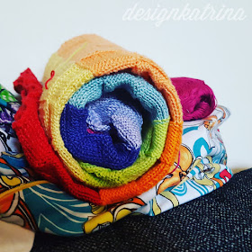 Rainbow blanket by DesignKatrina