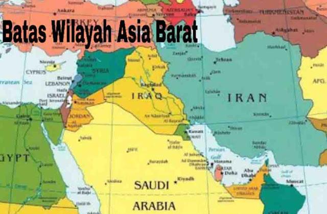 Batas Wilayah Asia Barat