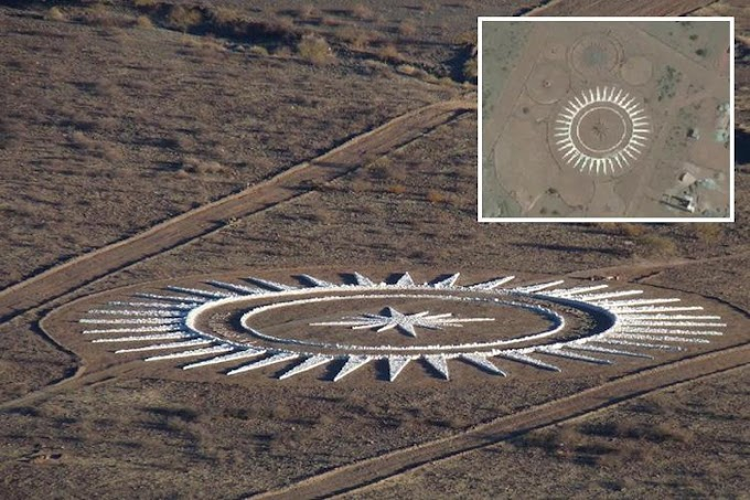 UFO Landing Pad Built by A Man In Argentinian Desert