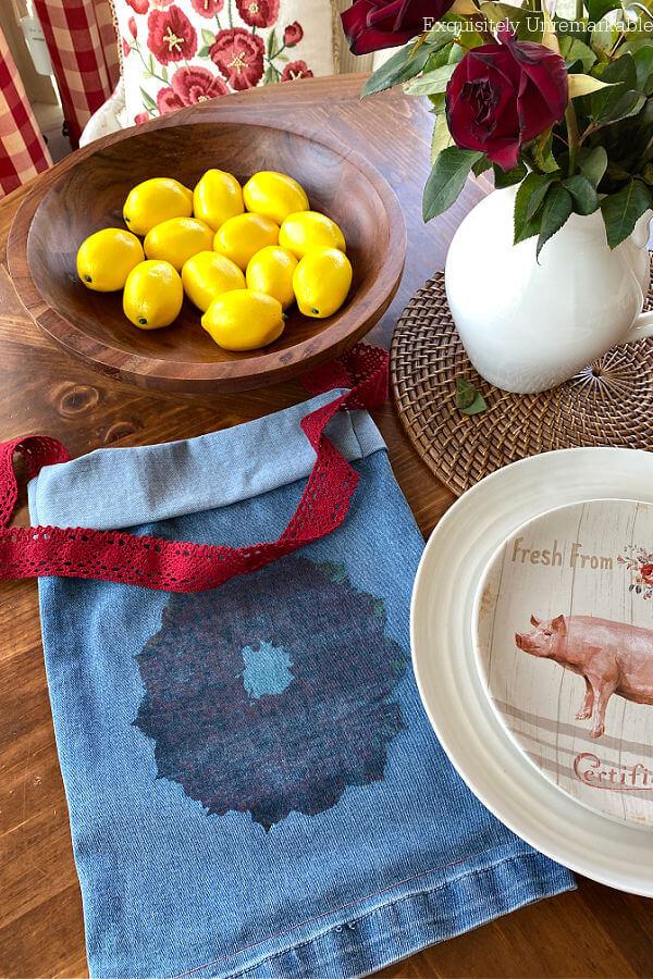 Decorative DIY Denim Bag