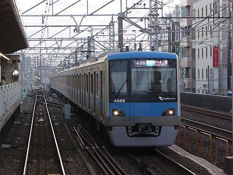 常磐線 千代田線直通 各駅停車 代々木上原行き1 小田急4000形