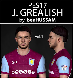 PES 2017 Faces Jack Grealish by BenHussam