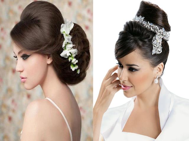 Penteados de noiva com franja