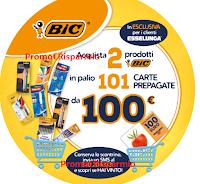 Logo Con BIC puoi vincere una card Esselunga al giorno 2019: in palio 101 premi da 100 euro