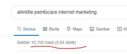 hasil pembicara internet marketing