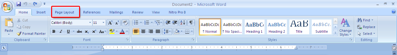 Ms Word Page Layout Option