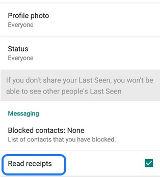 turn off blue ticks after message seen