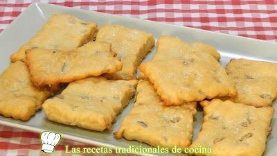 Receta fácil de galletas saladas con pipas muy crujientes y sabrosas