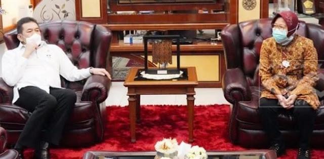 Bertemu Jaksa Agung, Walikota Surabaya Curhat Soal Aset-Aset Pemkot