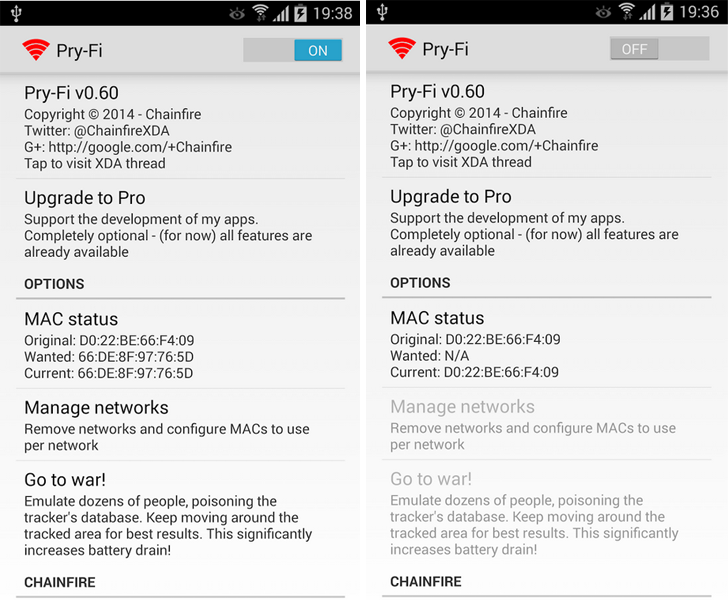 Chainfire's Pry-Fi Android App released to defend against NSA Spying under Public Wi-Fi