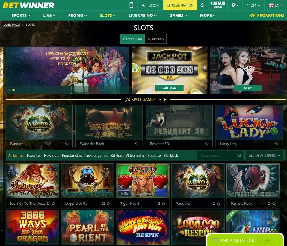 Betwinner Screen