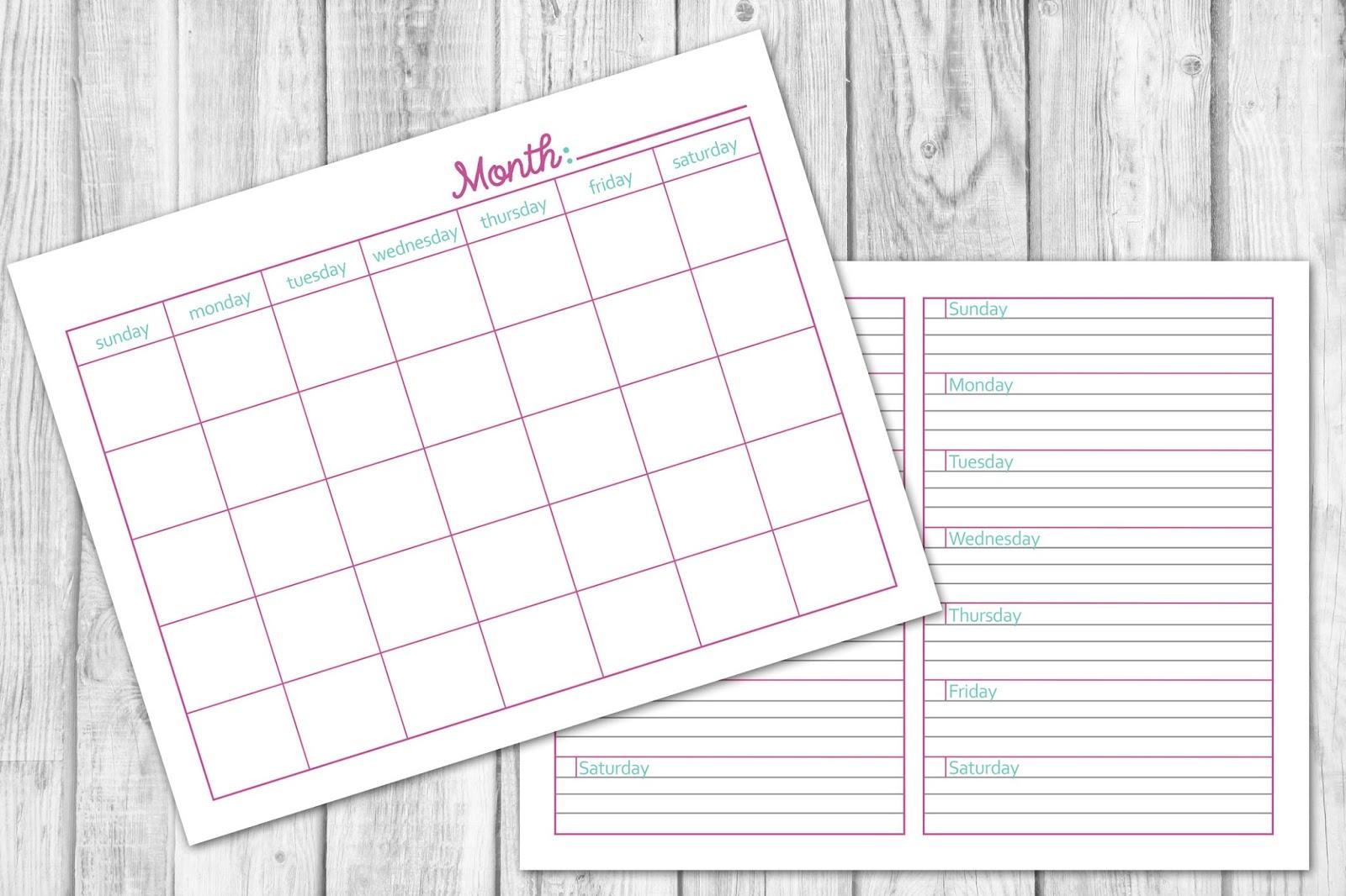 Blog planner calendar printable, Lovelytocu.ca