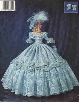 Crochê Para Barbie  Vestido, Chapéu Com Plumas, Bolsa e Sapatos Crochet Collector 41
