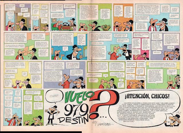 Doble página de el Inspector O'Jal en Tio Vivo 2ª nº 935 (5 de Febrero de 1979)