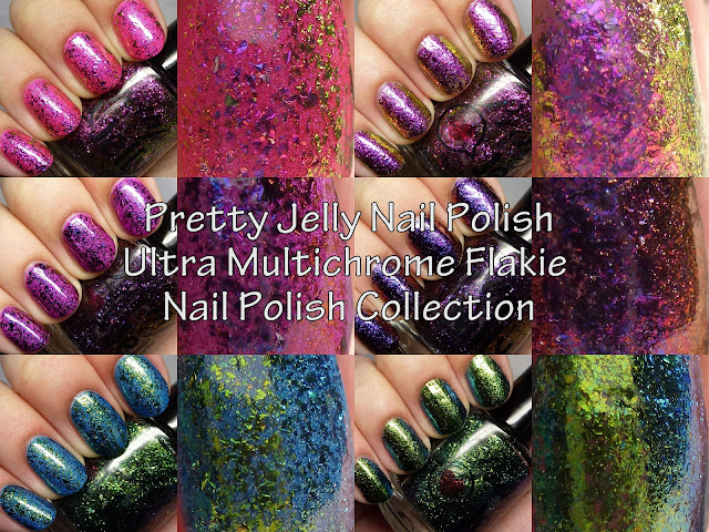 Pretty Jelly Nail Polish Ultra Multichrome Flakie Collection