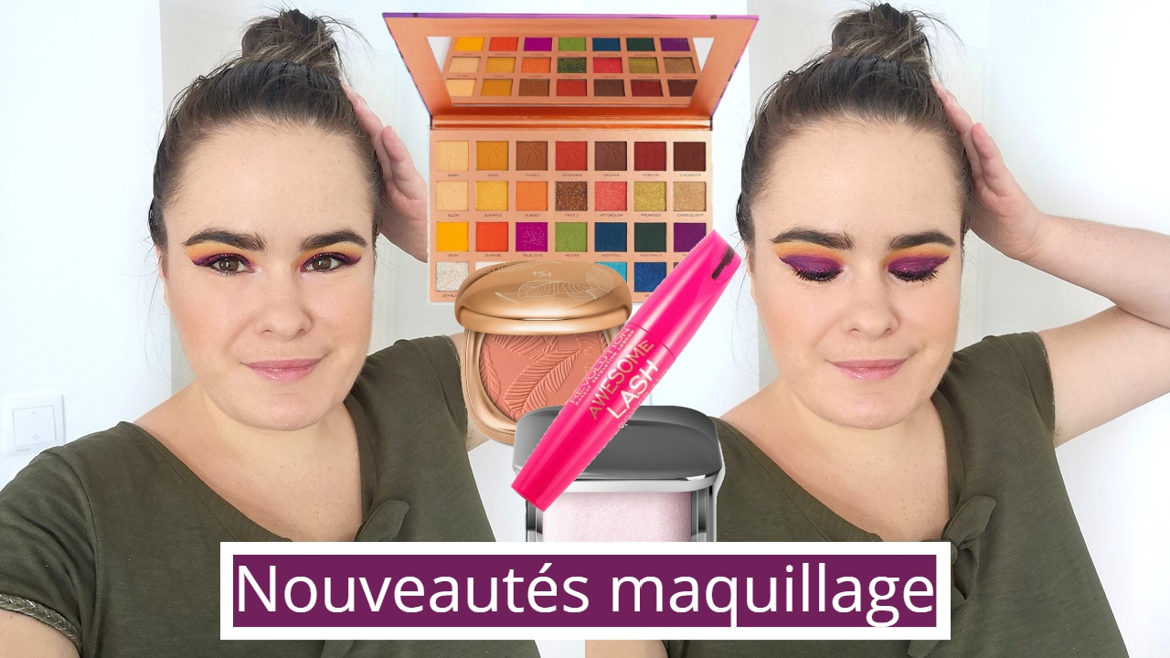 crash test nouveautés maquillage  juillet 2020(tammi x makeup revolution tropical twilight eyeshadow palette et kiko milano unexpected paradise)