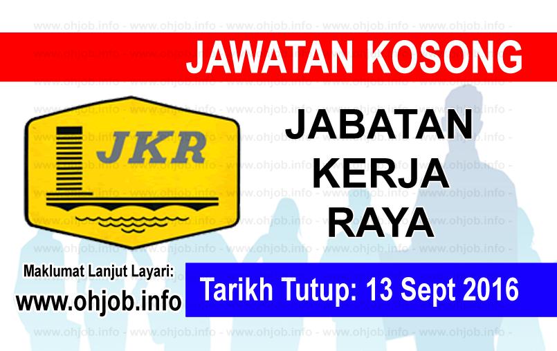 Jawatan Kerja Kosong Jabatan Kerja Raya (JKR) logo www.ohjob.info september 2016
