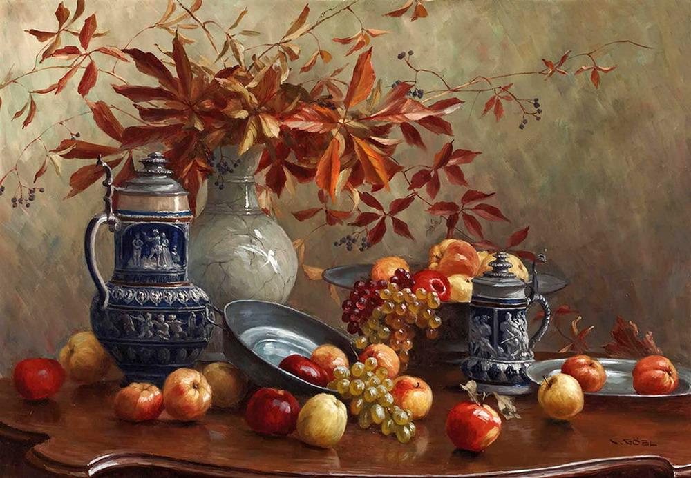 Картины овощей и фруктов