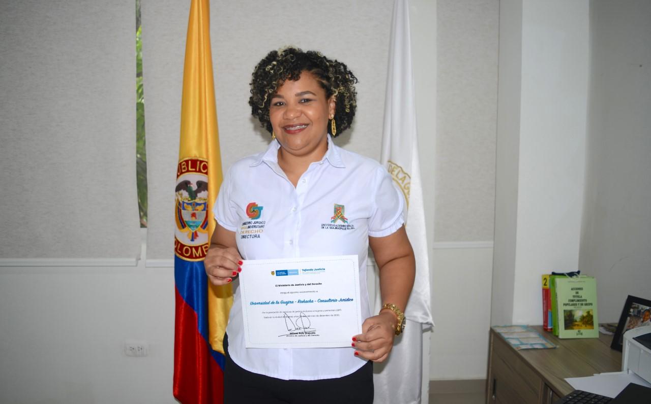 hoyennoticia.com, Minjusticia reconoció gestión del Consultorio Jurídico de Uniguajira