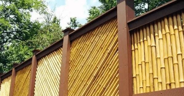 Model Pagar Rumah Minimalis Dari Bambu Rancangan Desain Rumah Minimalis
