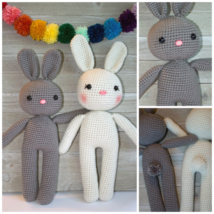 White rabbit amigurumi pattern - Amigurumi Today | 900x900