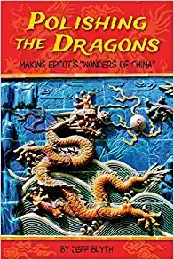 Book cover for Polishing the Dragons with a large ornate golden dragon